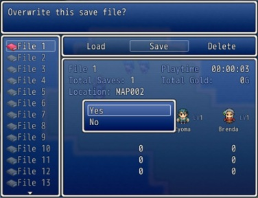 Ace Save Engine – Confirmation Add-on | Galv's RPG Maker Scripts
