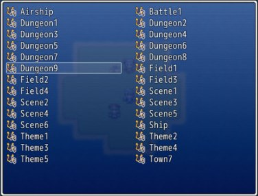 Basic Music Player | Galv's RPG Maker Scripts & Plugins