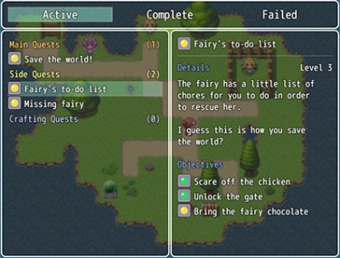 MV Quest Log | Galv's RPG Maker Scripts & Plugins